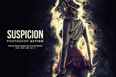 Suspicion Photoshop Brushes and Action by hemalaya