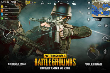 PUBG Photoshop Effect - PSD And ACTION by hemalaya