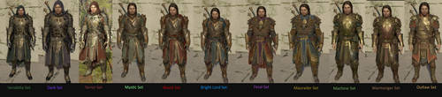 Shadow of War Armor sets by Jmp01