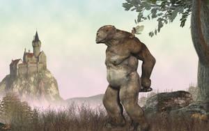 Strolling troll by melyanna