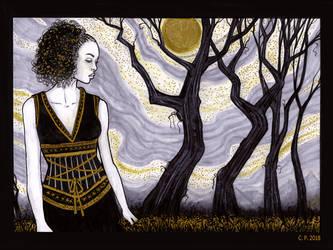 Inktober   Day 27   Witch by melyanna