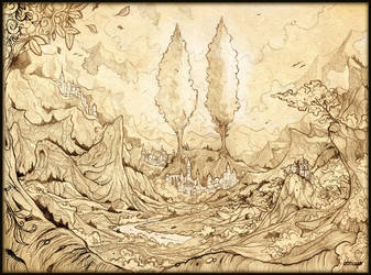 The Two Trees of Valinor by Feliche