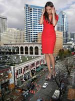 Mila Kunis Red Dress by The-WonderSlug