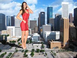 Mila Kunis Red Bandage Dress by The-WonderSlug