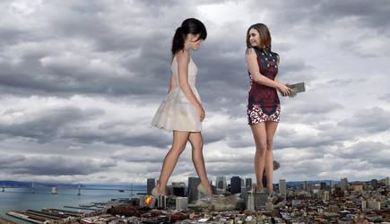 Jessica Biel and Nina Dobrev by The-WonderSlug