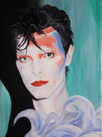 Scary Monsters Bowie by vberus
