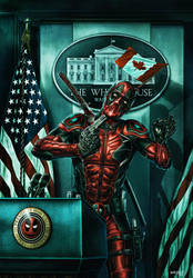 DEADPOOL - THE PATRIOT by WhileyDunsmoreArt