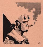Hellboy by Ghotire