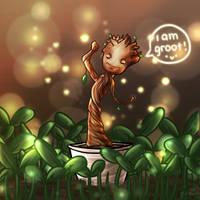 Baby Groot by genieartsu
