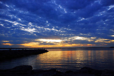 Blue Clouds Over Golden Water by PaulMcKinnon