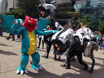 Druddigon + Robot Dinos by Frack19