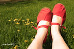 mary wore her red shoes... by janeanddaisy