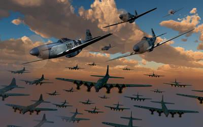 Fighter Escorts.1. by MasPix