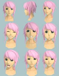 Amber Facial Expressions by ShinMusashi44