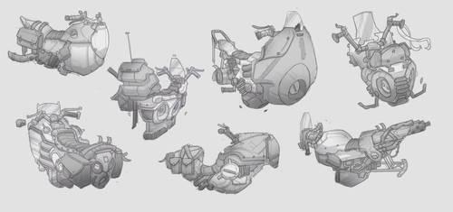 Antigrav Bike Concept Sketches by BrotherBaston