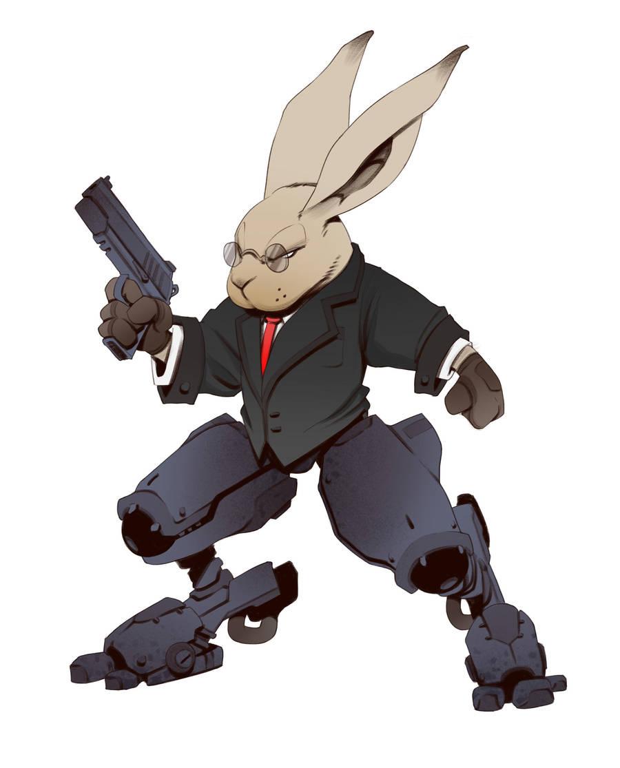 Mecha Rabbit Assassin by BrotherBaston