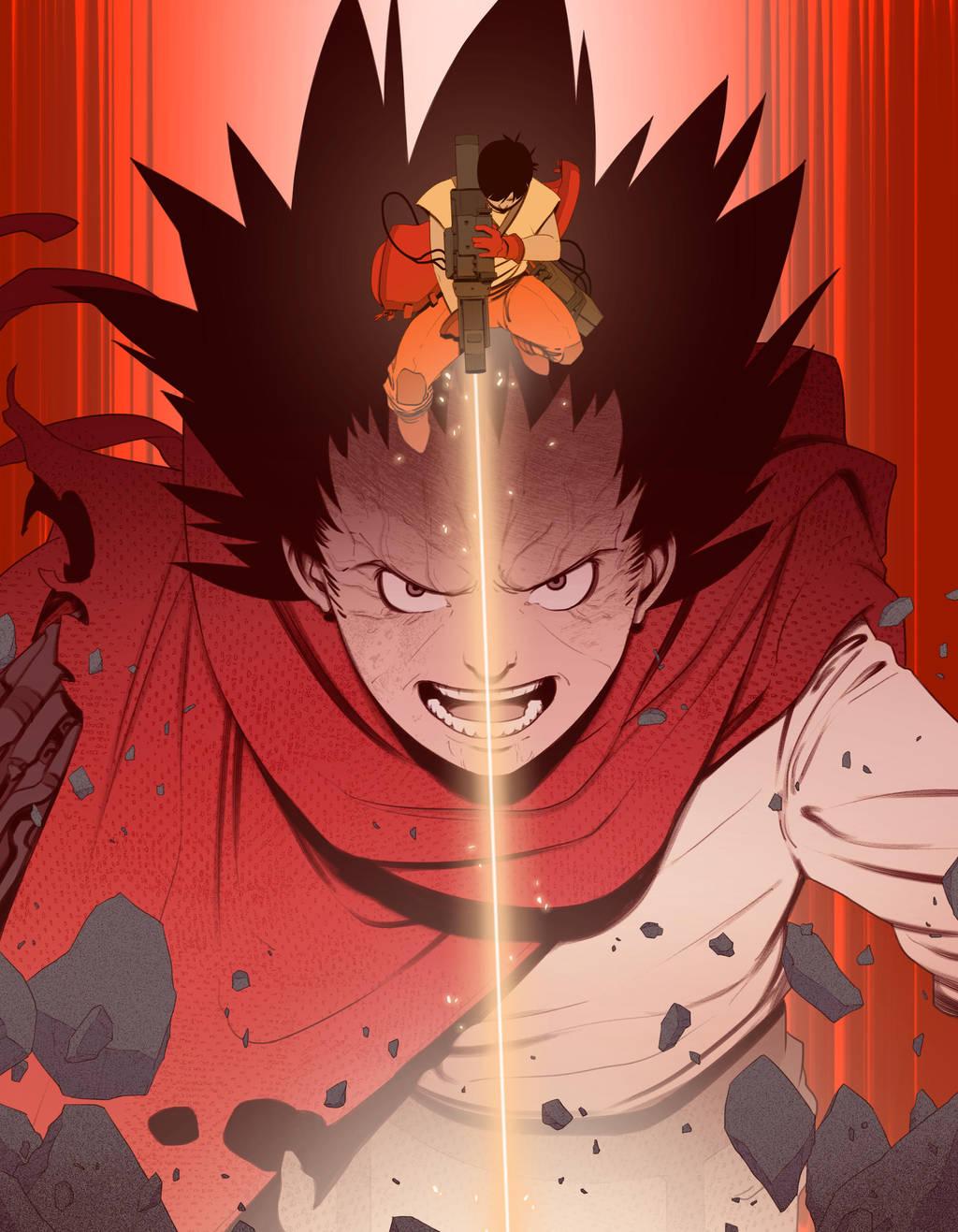 Akira - Tetsuo / Kaneda by BrotherBaston