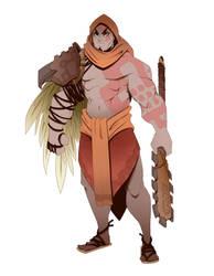 Aztec Kratos by BrotherBaston