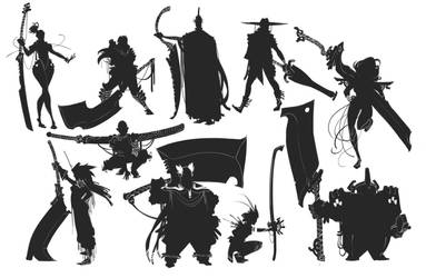 Blade Silhouettes by BrotherBaston