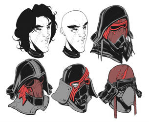 Kylo Ren Mask Redesigns by BrotherBaston