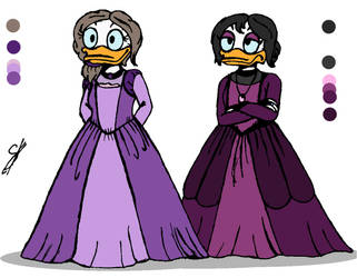 Anora and Regan (DuckTales Ocs) by Yulia-a-99