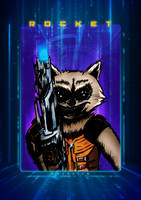 Rocket Raccoon by tekitsune