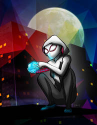 Spider-Gwen Finds the Tesseract by tekitsune