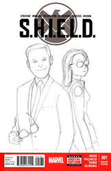 S.H.I.E.L.D. Sketchcover - WiP by tekitsune