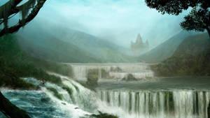 Waterfalls Jungle by Ellana333