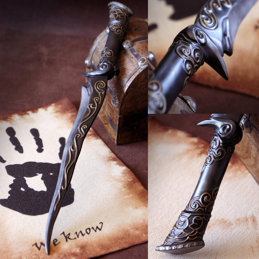 Ebony Dagger from Skyrim by Ellana333