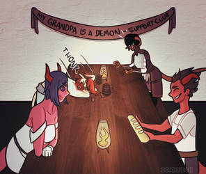 tieflings only club by iownfish