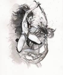 la bruja drow by Torechu