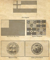 Flags of New England, c.1645 by edthomasten