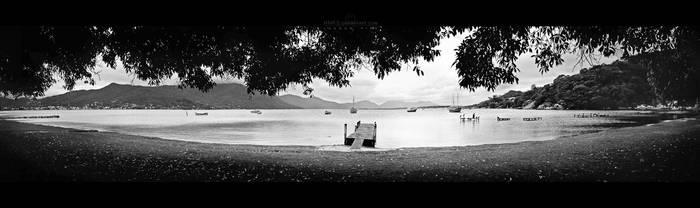Lagoon pier by Miguel-Santos
