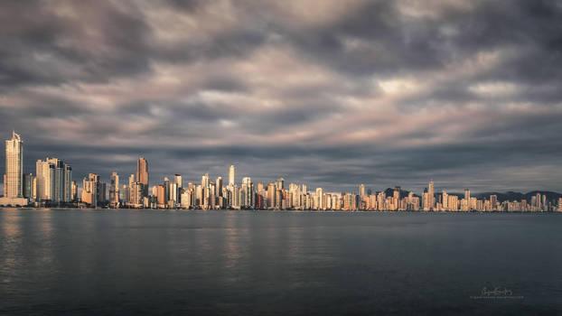 City at Dawn by Miguel-Santos
