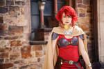 Redhead mercenary by Isadorada