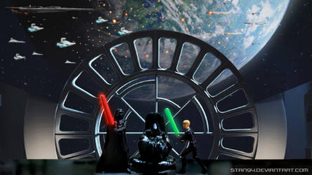 Star Wars ROTJ: Darth Vader vs. Luke Skywalker by STan94