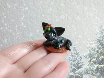Black Christmas Kitty Cat by CookieAndDinos