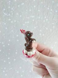 Hot Chocolate Jackalope by CookieAndDinos