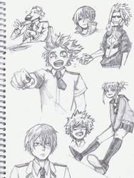 Boku No Hero Academia sketchpage by Vardruna