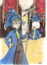 Tyro and Dr Mog [Final Fantasy Record Keeper] by Kailyce