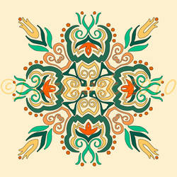Snowflake Flower Design by FroggFire