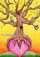 Heart Tree ATC by FroggFire