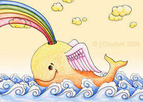 Rainbow Whale of Happiness by FroggFire