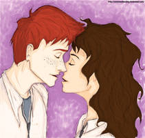 Ron and Hermione by amelia-sh
