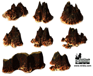 3D Isometric Mountains by Nirdia