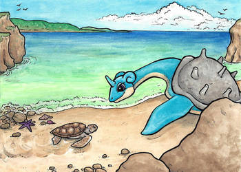 Lapras Vacation by tlouey