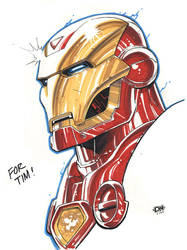 Iron Man Marker Sketch by DNA-1