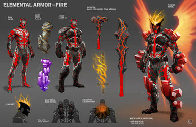 Elemental Armor--FIRE by DNA-1