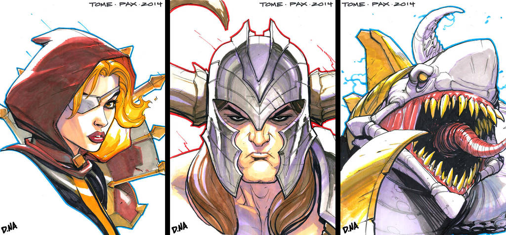 TOME Marker Sketches--PAX '14 by DNA-1
